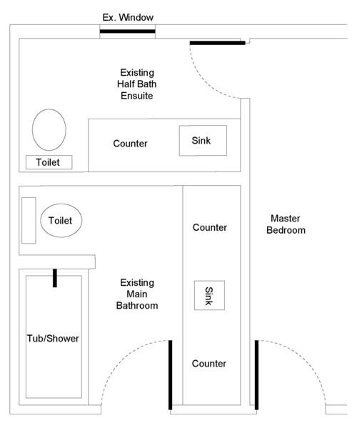 Would you do a jack jill master bathroom - Jack and jill sinks ...