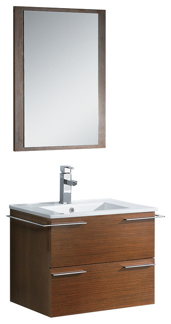 fresca cielo vanity with mirror wenge brown 24 modern
