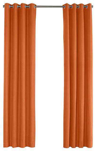 burnt orange linen grommet curtain contemporary curtains by loom