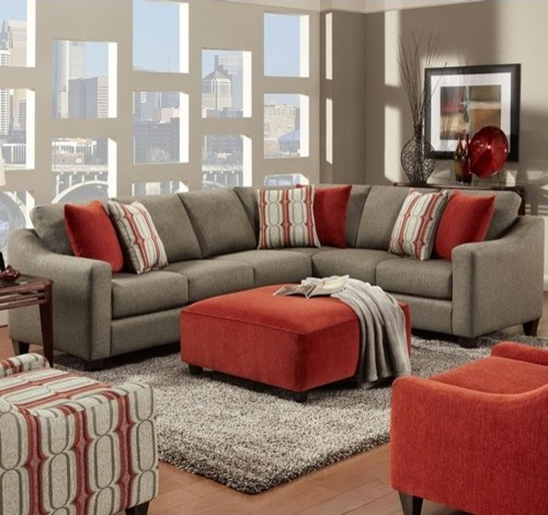 Fusion Furniture Gunpowder Gray Contemporary 2 Piece