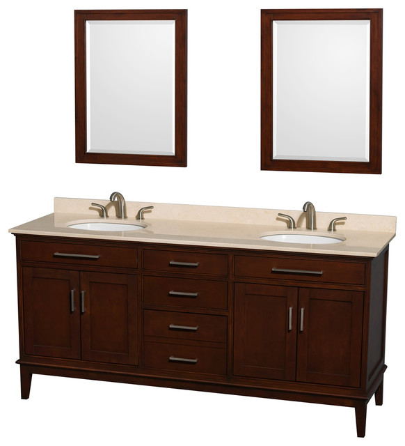 Eco Friendly Double Sink Vanity Set Contemporary Bathroom Vanities And Sink Consoles By