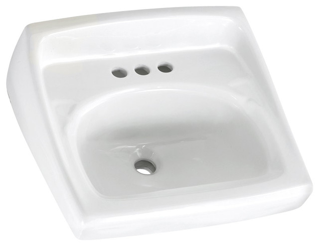 Lucerne 20 5 wall mount sink with exposed bracket support - Kitchen sink support brackets ...