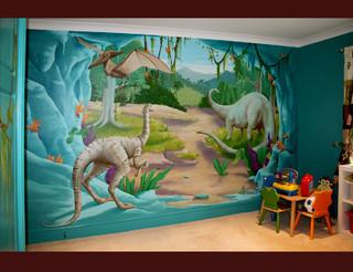 Murals for Dinosaur mural ideas