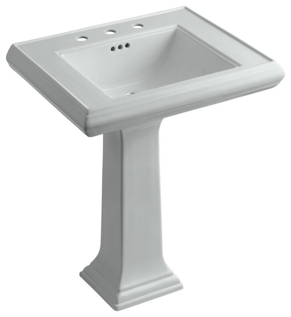 pedestal bathroom sink in ice grey k 2258 8 95 contemporary bathroom