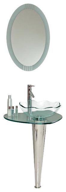Wavy Glass Vanity Light : Fresca Netto Modern Glass Bathroom Vanity w/Wavy Edge Vessel Sink - Modern - Bathroom Vanities ...