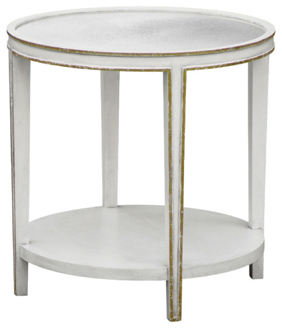 oly studio christine tall round side table modern