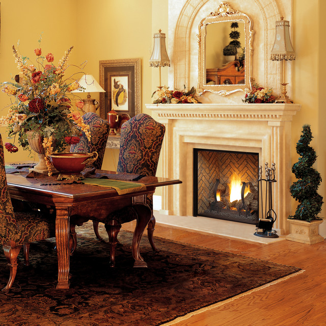 Montebello dlx traditional fireplace design collection for Astria fireplace