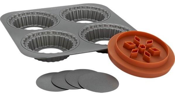 Individual Mini Pie Pan Set Modern Pie And Tart Pans