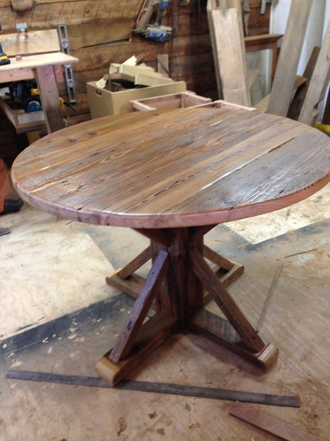 28 rustic round dining table for 8 52 quot round reclaimed