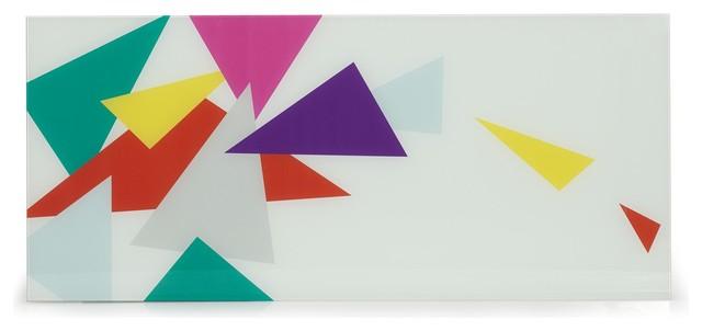 Trio plateau de bureau en verre s rigraphi contemporain for Plateau de bureau en verre serigraphie