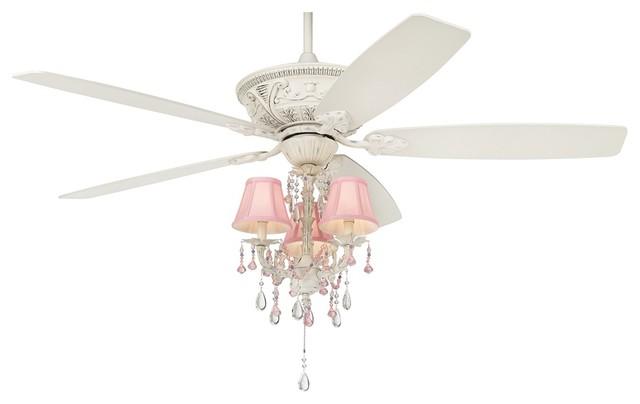 "60"" Casa Vieja Montego Pretty In Pink Light Kit Ceiling"
