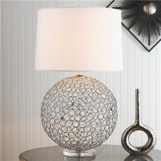 High Quality Silver Ringlet Table Lamp   Contemporary   Table Lamps   By Shades Of . Part 6