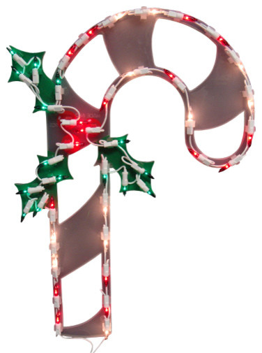 Lighted candy cane christmas window silhouette decoration for 16 lighted snowflake christmas window silhouette decoration