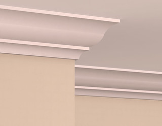 Crown molding on concrete ceiling pictures to pin on pinterest