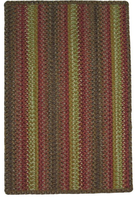 Homespice Decor Summer Afternoon Brown Red Area Rug Farmhouse Area Rugs
