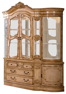 Tuscany Antique White Wash Finish Hutch and Buffet Cabinet - China Cabinets And Hutches - by ...
