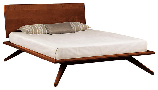 Astrid King Bed Single Headboard In Cognac Cherry