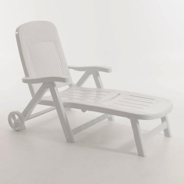 Chaise longue pliante r sine contemporain transat et for Chaise longue pliante