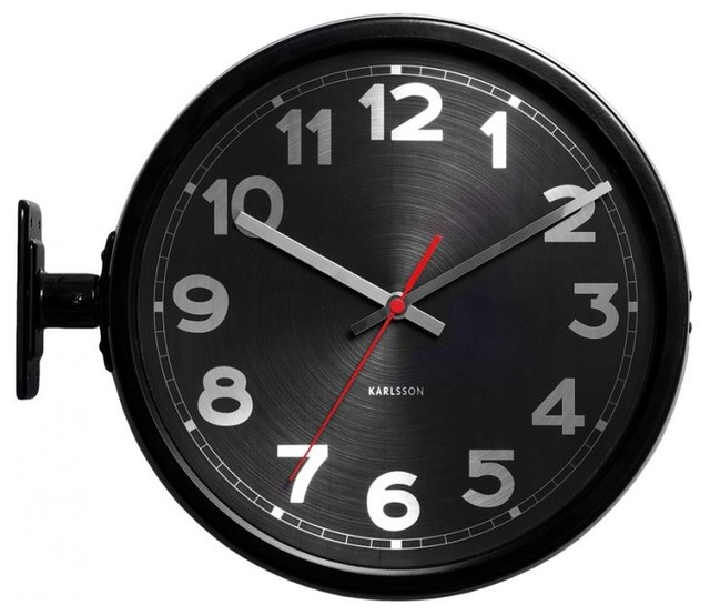Double Sided Wall Mounted Clock