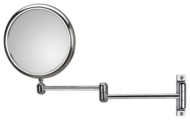 Wall Hard Wired Extendable Arm 3x-6x Chrome Magnifying