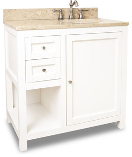 Lyn vanity light marble top 36 transitional bathroom vanities and sink consoles by - Simply design a bathroom vanity with five steps ...