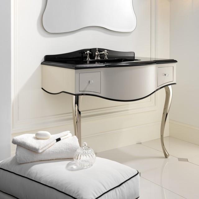 Consolle per bagno consolle lavabo in stile classico con - Consolle bagno classico ...