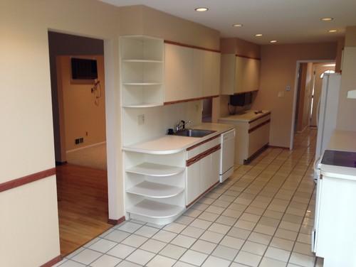 80 s laminate cabinet kitchen update advice