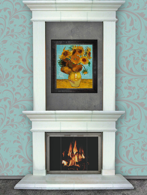 Washington Pre Cast Stone Double Mantel Traditional Fireplace Mantels By Fireplace Doors