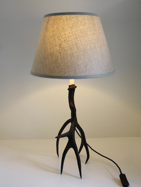 Bronze Antler Lamp Contemporary Table Lamps