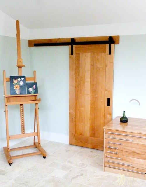 Art studio barn door asian interior doors by real for Interior sliding doors