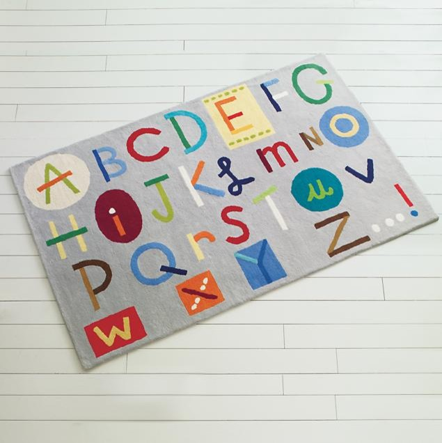 Kids Colorful Alphabet ABC Rug