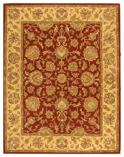 Safavieh heritage hg343c red gold area rug traditional for Red and gold area rugs