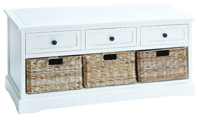 3 drawer white wood storage cabinet 2