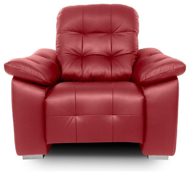 Sill n de piel giorgio moderno sillones y butacas for Sillones piel confort