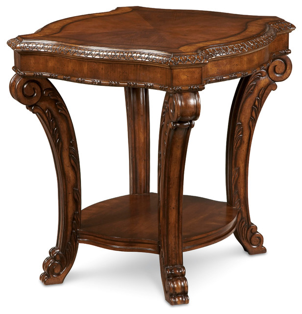 Old World Rectangular End Table Victorian Side Tables