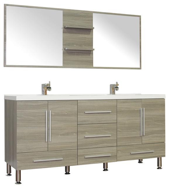Alya Bath At 8063 67 Double Modern Bathroom Vanity Contemporary Bathroom Vanities And Sink