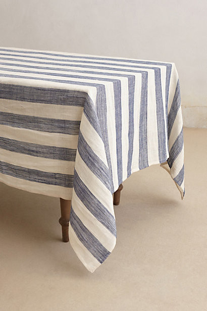 Sea Stripes Tablecloth, Navy   Traditional   Tablecloths   By Anthropologie