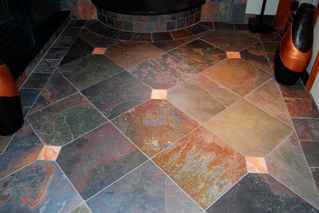 Slate tile flooring mediterranean flooring by for Mediterranean flooring ideas
