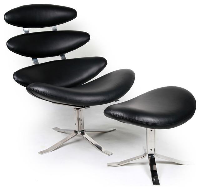 Kardiel corona style chair and stool modern living room chairs