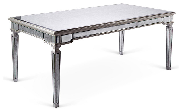 mirrored dining table silver contemporary dining tables