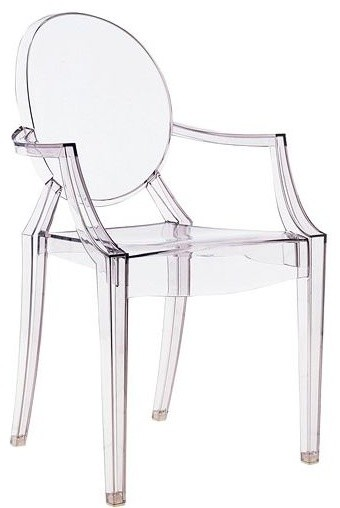 philippe starck style ghost arm chair louis by rove concepts modern armchairs accent. Black Bedroom Furniture Sets. Home Design Ideas