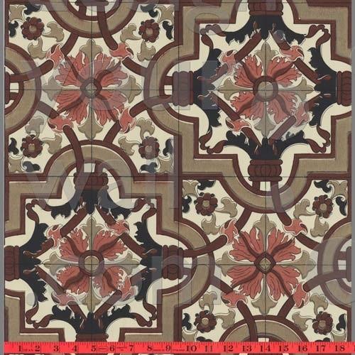 Tiled Moroccan Vintage Custom Wallpaper Eclectic