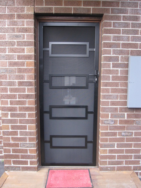 Modern steel security designs for Door design houzz
