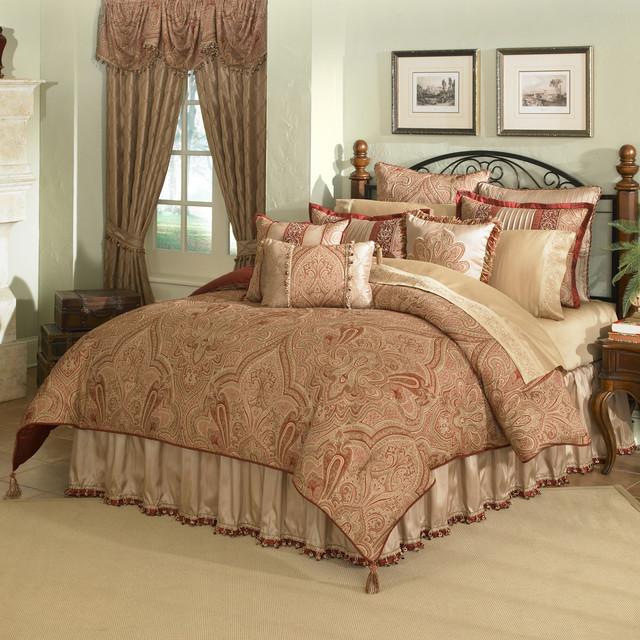 castille 4 piece king size comforter set contemporary
