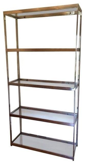 vintage baughman style chrome etagere modern display. Black Bedroom Furniture Sets. Home Design Ideas