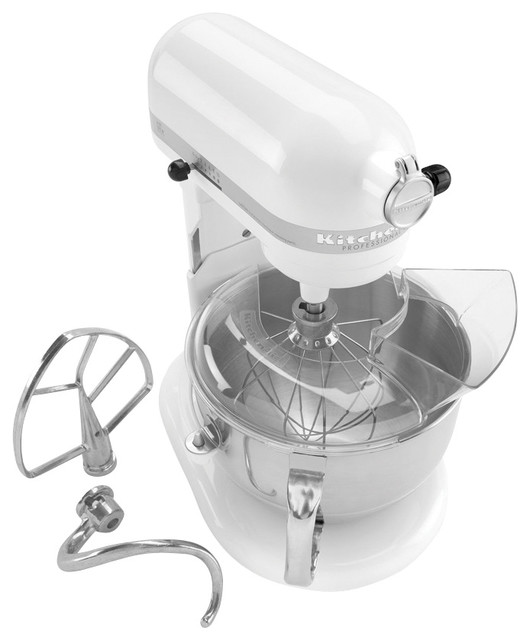 Kitchenaid professional 600 series mixer white modern for Kitchenaid f series