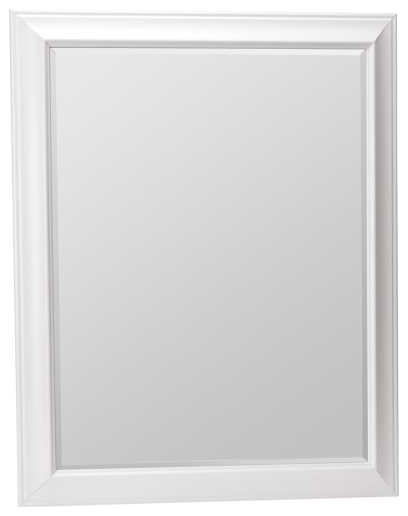 white mirror 30 x 36 contemporary wall mirrors. Black Bedroom Furniture Sets. Home Design Ideas