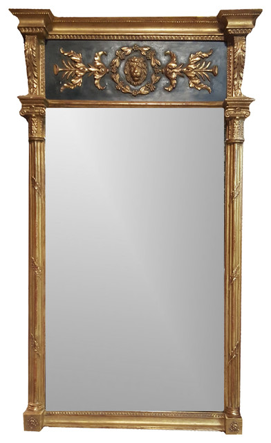 ... Panel and Columns, Black and Gold Framed Mirror victorian-wall-mirrors
