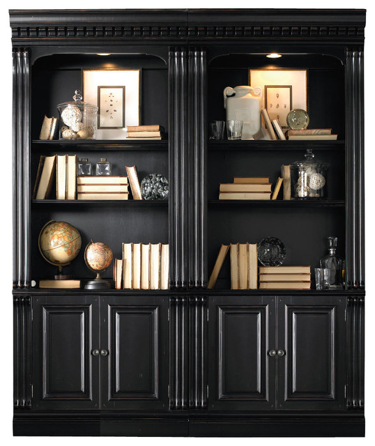 distressed black bookshelves 2
