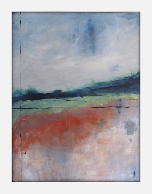Abstract Landscape Modern Minimalist Acrylic Painting on ...